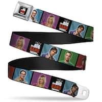 The Big Bang Theory Full Color Black White Red The Big Bang Theory Seatbelt Belt