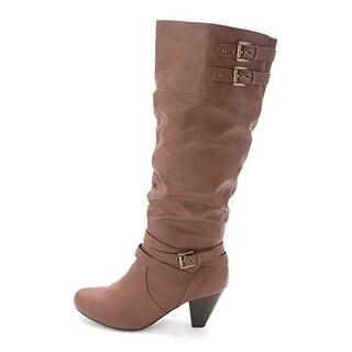 Rampage Womens Edsel Almond Toe Mid-Calf Fashion Boots