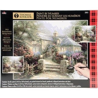 "Thomas Kinkade Paint By Number Kits 16""X20""-The Hollyhock House"