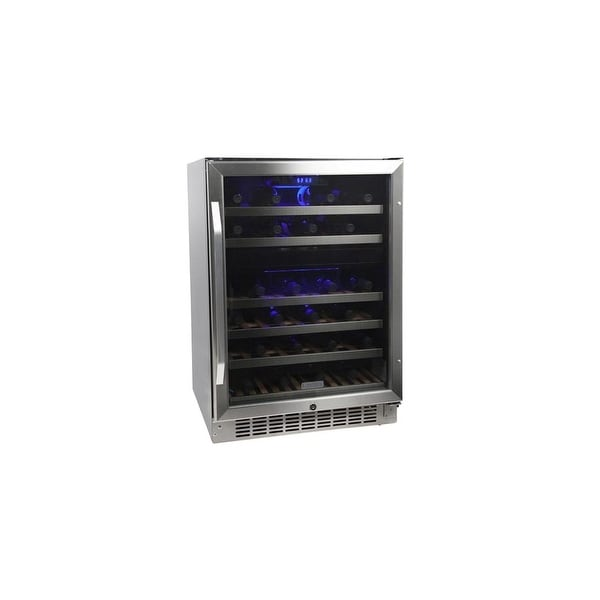 "EdgeStar CWR461DZ 24"" Wide 46 Bottle Built-In Wine Cooler with Dual Cooling Zones - STAINLESS STEEL - N/A"