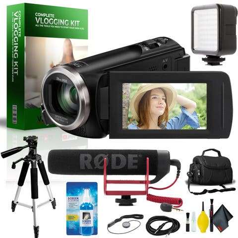 Panasonic Full HD Camcorder Complete Vlogging Equipment Kit