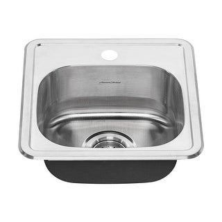 """American Standard 22SB.6151511S Colony 15"""" Single Basin Stainless Steel Kitchen Sink for Drop In Installations with Single"""