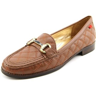 Marc Joseph Madison Ave Women Round Toe Leather Brown Flats