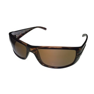 Kenneth Cole Reaction Mens Sunglass Tortoise Rectangle, Brown Lens KC1186 52E - Medium