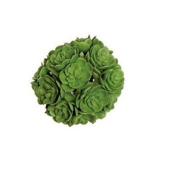 "2"" Green Decorative Artificial Mini Echeveria Succulent Orb"
