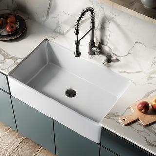 Link to Elegance 33 x 20 Ceramic, Farmhouse Kitchen Sink Similar Items in Sinks