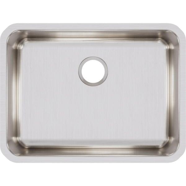 "Elkay ELUH2317 Lustertone 25-1/2"" Single Basin 18-Gauge Stainless Steel Kitchen Sink for Undermount Installations with"