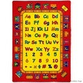 """AllStar Rugs Kids / Baby Room Area Rug. Bright Colors with Capital and Lowercase Letters (7' 3"""" x 10' 2"""") - Thumbnail 3"""