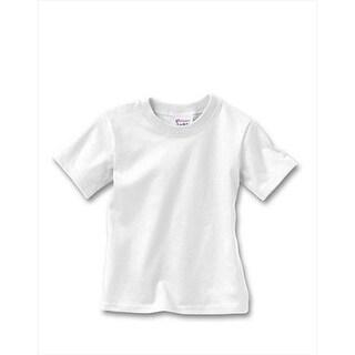 Hanes T120 Comfortsoft Crewneck ToDDler T-Shirt Size 4T, White