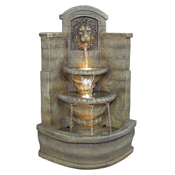 Design Toscano Saint Remy Lion Corner Fountain