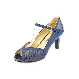 Karen Scott Womens Nevv Suede Peep Toe Ankle Strap Mary Jane Pumps