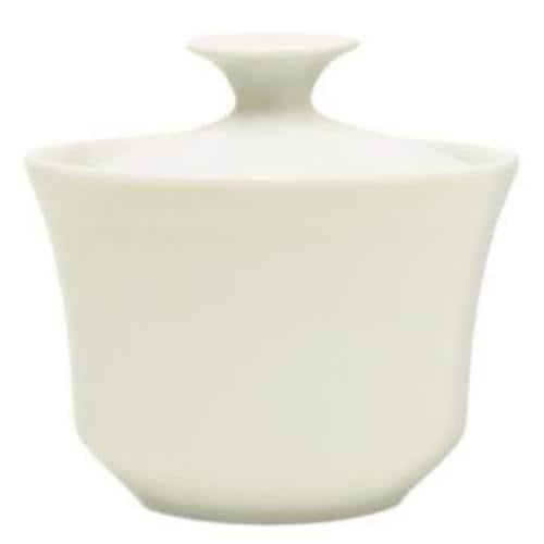 HIC 79401 Porcelain Sugar Bowl, Cafe White