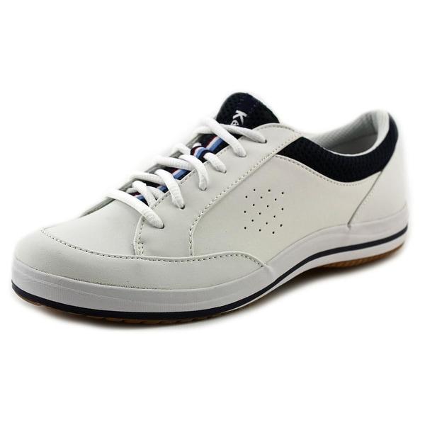 Keds Rebellion Women Round Toe Leather White Tennis Shoe