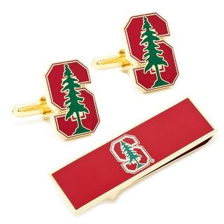 Stanford University Cardinal Cufflinks and Money Clip Gift Set - Red