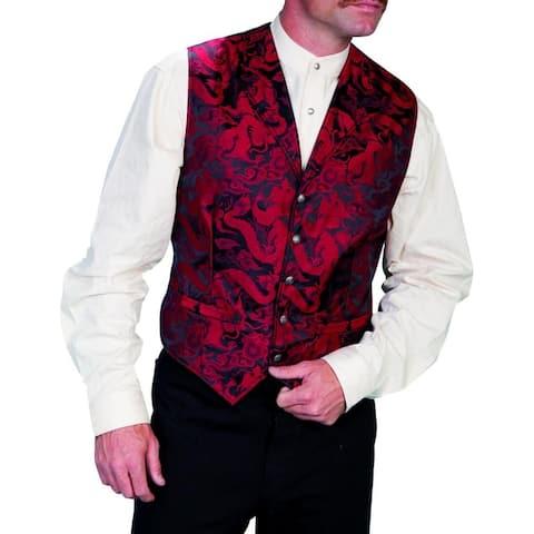 Scully Western Vest Mens Dragon Button Closure Rangewear