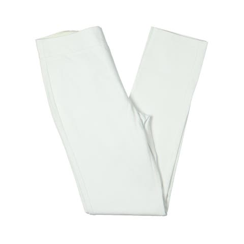 Kobi Halperin Womens Bella Pants Mid Rise Pull On - White - 8