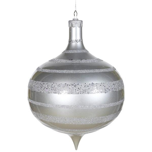 """16"""" Silver Glaze-Glitter-Sequin Onion"""