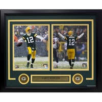 Aaron Rodgers Framed Green Bay Packers TD Snow Photo Collage