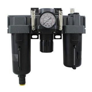 Milton EX45FRL40A-04M 0.5 in. NPT Metal FRL Air Filter Regulator & Lubricator System