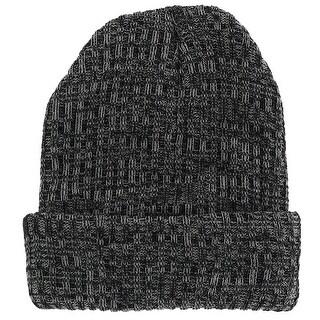 Polar Extreme Men's 3-Ply Heavy Ribbed Knit Marl Beanie Cuff Cap
