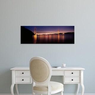 Easy Art Prints Panoramic Images's 'Golden Gate Bridge, San Francisco Bay, San Francisco, California' Canvas Art