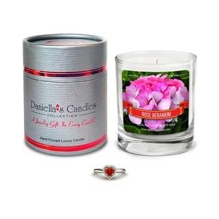 Rose Geranium Jewelry Candle, Necklace