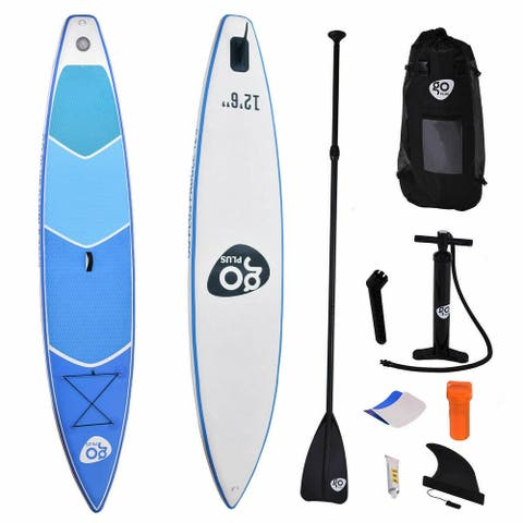 12.5' Inflatable Stand Up Paddle Board w/ Paddle - Blue