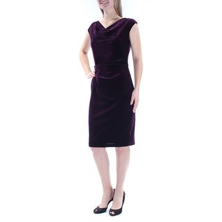 JESSICA HOWARD $89 Womens New 1148 Purple Gathered Velvet Dress 10 B+B