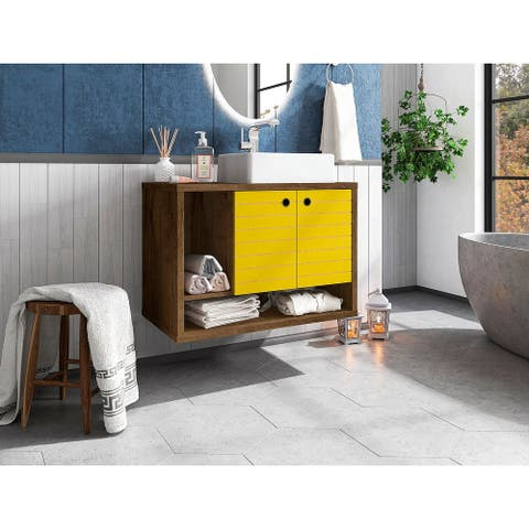 Liberty Floating 31.49 Bathroom Vanity with Sink and 2 Shelves