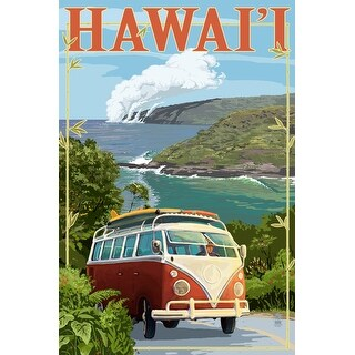 Hawaii - VW Van Cruise - Lantern Press Artwork (Playing Card Deck - 52 Card Poker Size with Jokers)
