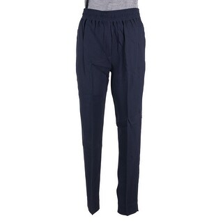 3.1 Phillip Lim Women Navy Pleated Smocked Waistband Tapered Trousers