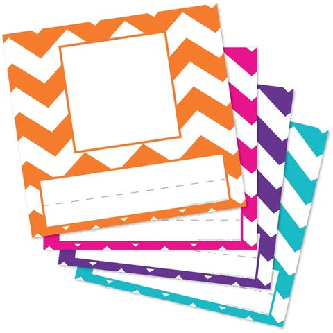 Chevron Assorted Picture Plates, Pack of 32 - One Size