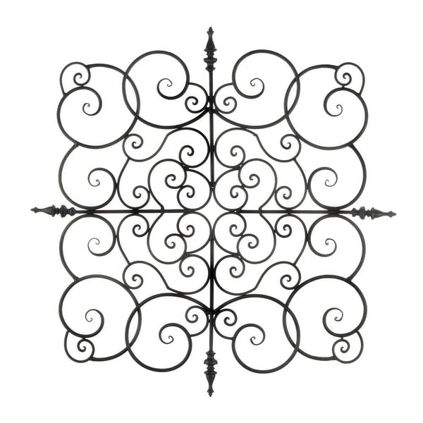 Ancient Square Fleur-De-Lis Wall Plaque