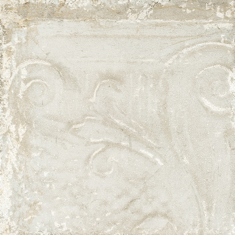 Sassuolo Ceramic Italian Tile in White Relief (12 x 12, 12 Sq. Ft.)