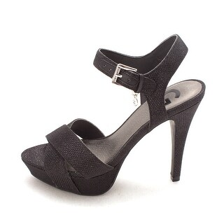 G by Guess Womens Cenikka2 Open Toe Ankle Strap Platform Pumps
