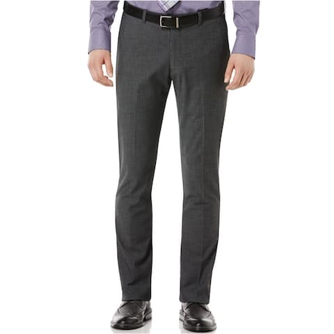 Perry Ellis Mens Travel Luxe Casual Chino Pants, Grey, 31W x 30L - 31W x 30L