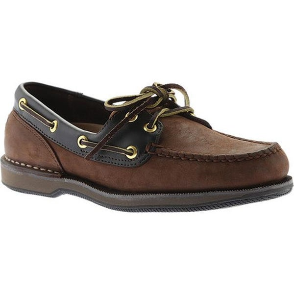 e057ead7ac Shop Rockport Men s Perth Boat Shoe Chocolate Bark Nubuck - Free ...