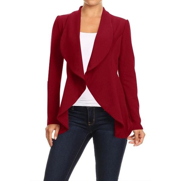 Women's Casual Office Work Solid Basic Blazer Jacket. Opens flyout.