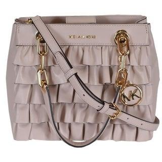 6311384ba633 ... ireland michael kors small pink leather ruffled cynthia satchel purse  handbag 69e4e 43d80