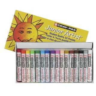 Sakura Cray-Pas Junior Artist Oil Pastels, Assorted Colors, Set of 16