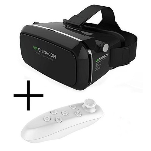 Shinecon 3D Virtual Reality Headset VR Glasses with Remote Controller for iPhone