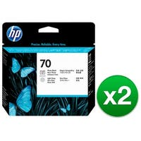 HP 70 Photo Black & Light Gray DesignJet Printhead (C9407A) (2-Pack)