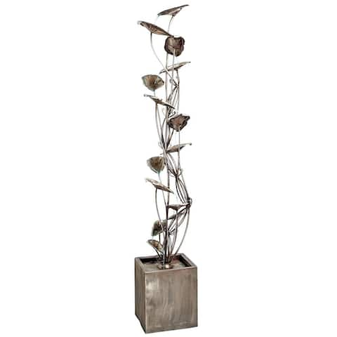 Design Toscano Wandering Leaf Cascading Metal Tower Fountain