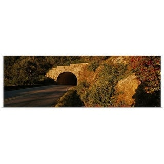 """Road passing through a tunnel, Blue Ridge Parkway, North Carolina"" Poster Print"