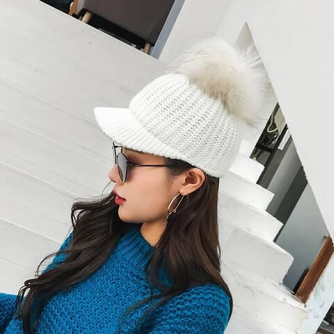 Female Wool Cap Korean Baseball Cap