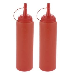 2Pcs 0.2l Kitchen Plastic Squeeze Bottles Condiment Ketchup Mustard Oil Salt