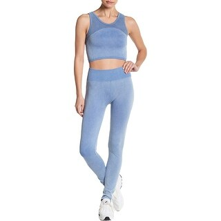Link to Splendid Women's Distressed Seamless Activewear Moto Fitness Leggings - Moonlight Blue Similar Items in Athletic Clothing