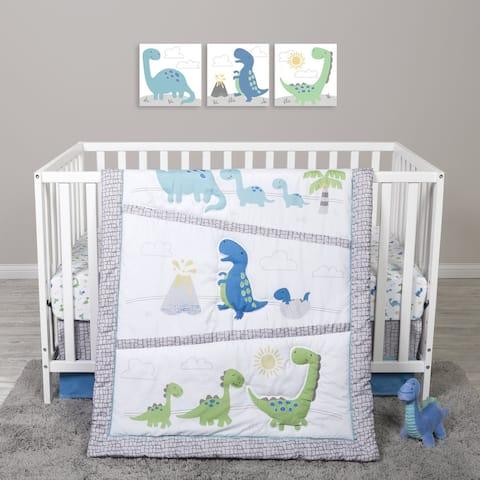 Sammy and Lou Dinosaur Pals 4 Piece Crib Bedding Set