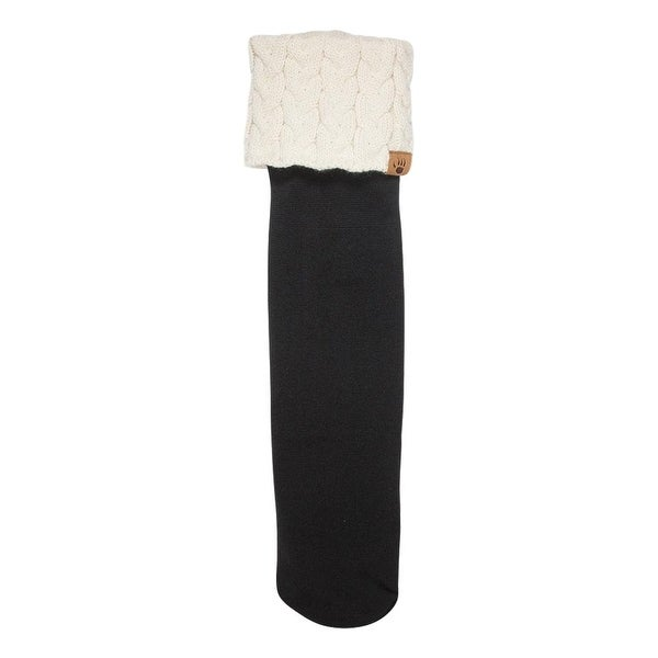 Bearpaw Fashion Socks Womens Cuffed Boot Liner Nylon Fleece - One size