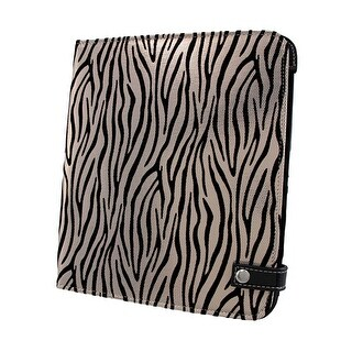 Black / Metallic White Zebra iPad Cover/Stand